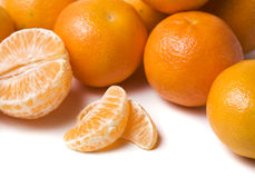 Pile of tangerines close-up Royalty Free Stock Image