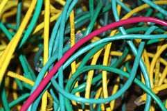 Pile of Tangled Wires Royalty Free Stock Photo