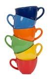Pile of tea cups Stock Image