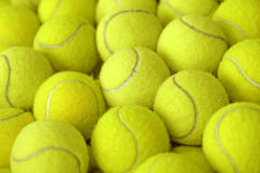 Pile of tennis ball as sport background Stock Photography