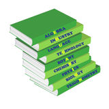 Pile of textbooks , a concept education. Pile of textbooks on a white background, a concept education Stock Illustration