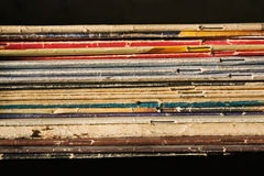 Pile of thin books Royalty Free Stock Photography