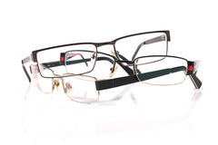 Pile of three eyeglasses Royalty Free Stock Photography