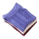 Pile of three folded sweaters Stock Photo