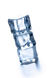 Pile of three ice cubes Stock Images