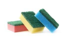 Pile of three kitchen sponges Royalty Free Stock Photos