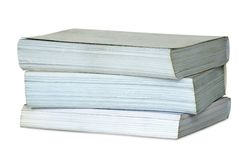 Pile from three thick books. Royalty Free Stock Photos