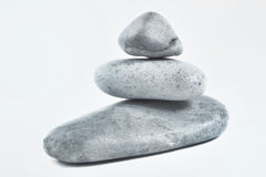 Pile of three yellow stones Royalty Free Stock Photography