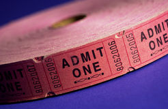 Pile of tickets Stock Images