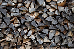 Pile of timber Stock Images