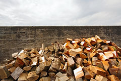 A pile of timber Stock Photography