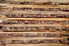 Pile of timber. Royalty Free Stock Photos