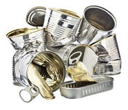 Pile of Tin Cans Royalty Free Stock Image