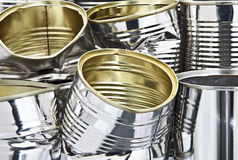 Pile of tin cans. Detail of a pile of tin cans Stock Photography