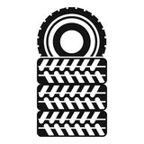 Pile of tires icon, simple style Royalty Free Stock Images