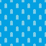 Pile of tires pattern seamless blue. Pile of tires pattern repeat seamless in blue color for any design. Vector geometric illustration Stock Photos