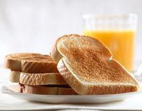 Pile of toast for breakfast Stock Photography