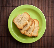 Pile of toast. Stock Photo
