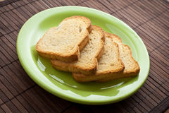 Pile of toast Stock Photography