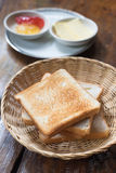 Pile of toast for breakfast Royalty Free Stock Photos