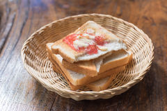 Pile of toast for breakfast Royalty Free Stock Images