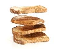 Pile of toast floating Royalty Free Stock Photo