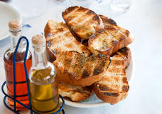 Pile toasted bread Royalty Free Stock Image