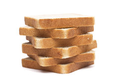 Pile of toasts against Royalty Free Stock Photo