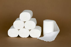 A pile of toilet papers Royalty Free Stock Image