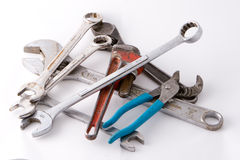 Pile of tools Royalty Free Stock Photos