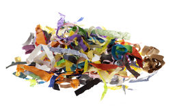 Isolated Paper Strips Pile Royalty Free Stock Image