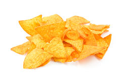 Pile of tortilla chips Royalty Free Stock Photography