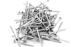 Pile of torx screws Stock Photo