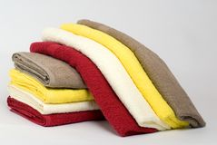 Pile of towels Royalty Free Stock Photography