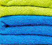 Pile of towels closeup Royalty Free Stock Photography