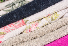 Pile of towels Stock Images