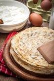 Pile of traditional Polish pancakes. Royalty Free Stock Photos