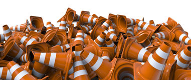 Pile of traffic cones Royalty Free Stock Photos