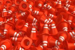 Pile of traffic cones Stock Photo