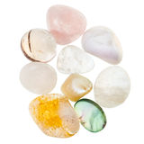 Pile of transparent natural mineral gemstones Royalty Free Stock Image