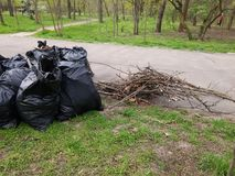 Pile of Trash Bags Royalty Free Stock Image
