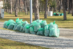 Pile of trash bags Royalty Free Stock Photography