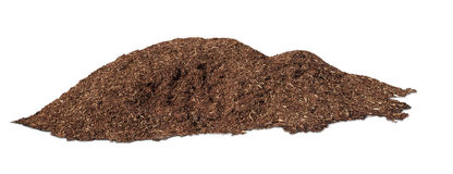 A pile of  tree bark mulch Stock Image