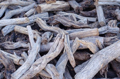 Pile of tree branches composition Royalty Free Stock Photography