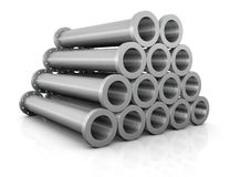 Pile of tubes Royalty Free Stock Images