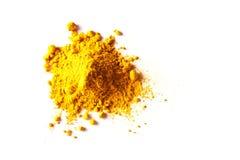 Pile of Turmeric Powder Stock Photo