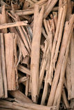 Pile of twigs for heating Royalty Free Stock Photos