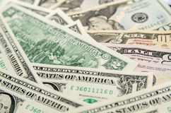 Pile of two dollar Royalty Free Stock Photo