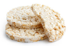 Pile of two and half puffed rice cakes. Stock Photography