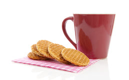 Pile of typical Dutch stroopwafels Royalty Free Stock Photo